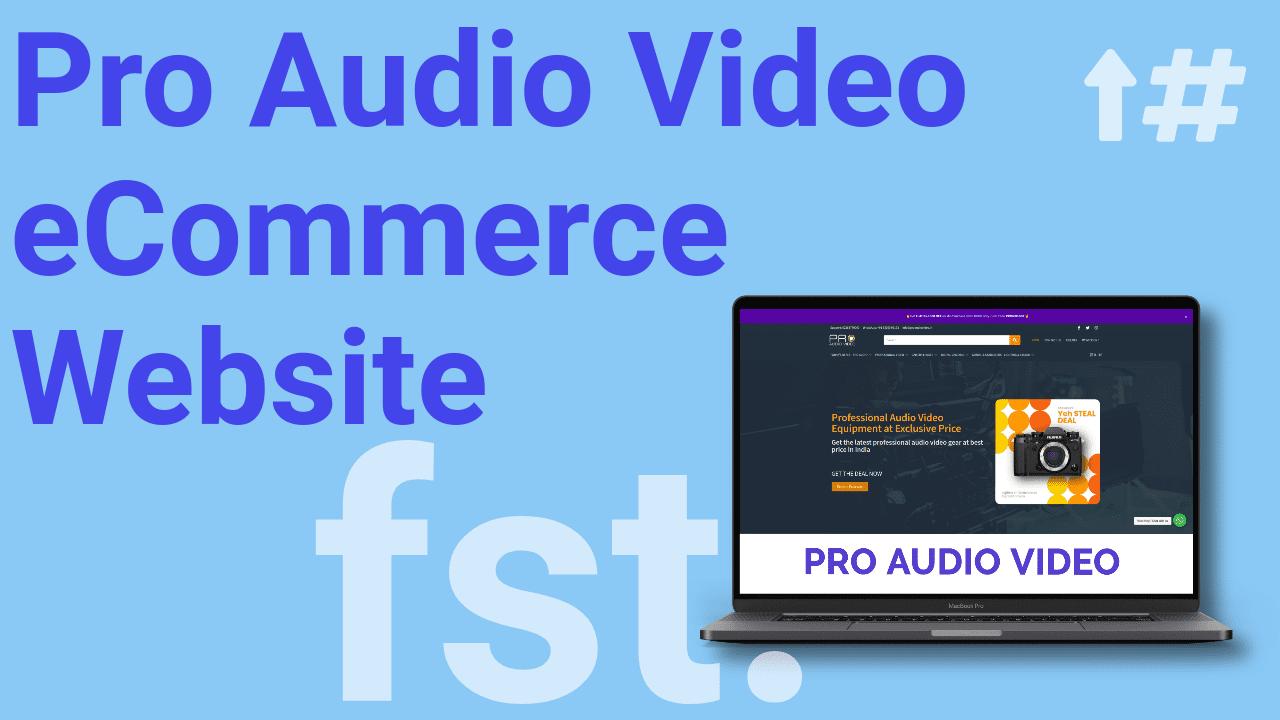 Pro Audio Video eCommerce Flying Star Portfolio